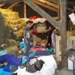 Schlaflager vorbereiten